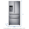 Shop Samsung 28 15 Cu Ft French Door Refrigerator With