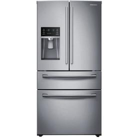 Shop Samsung 28 15 Cu Ft 4 Door French Door Refrigerator