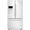 Samsung 22.5-cu ft Counter-Depth French Door Refrigerator with Single Ice Maker (White)