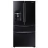 Samsung 24.73-cu ft 4-Door French Door Refrigerator with Single Ice Maker (Black) ENERGY STAR