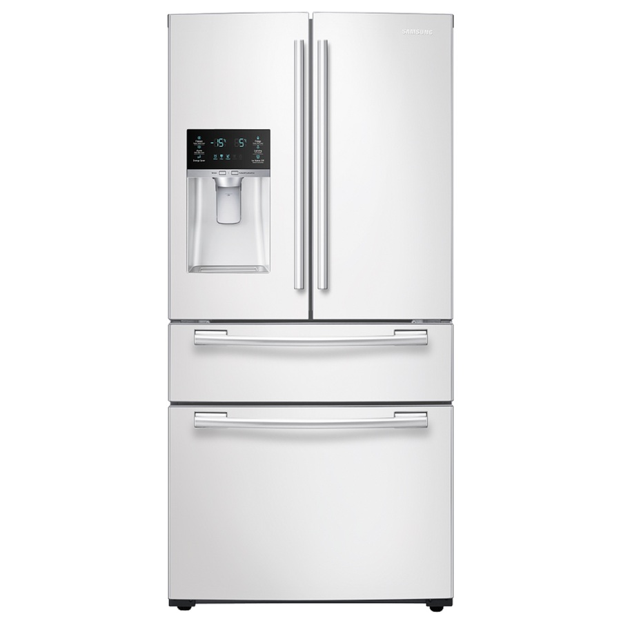 shop samsung ft french door refrigerator with single ice maker white energy star at. Black Bedroom Furniture Sets. Home Design Ideas