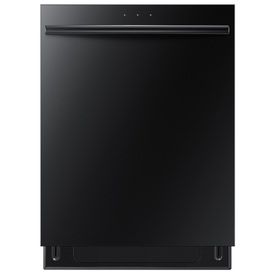 Samsung 24-in 48-Decibel Built-In Dishwasher with Hard Food Disposer and Stainless Steel Tub (Black) ENERGY STAR