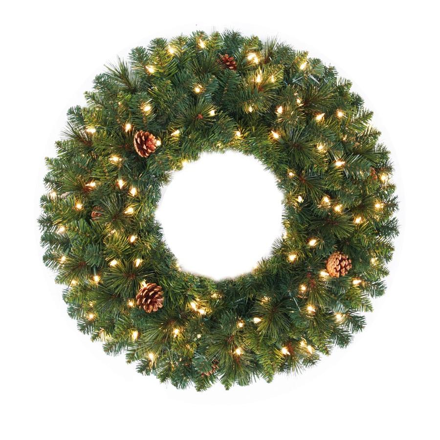 30 in aspen wreath spruce indoor outdoor artificial christmas wreath. Black Bedroom Furniture Sets. Home Design Ideas