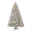 Holiday Living 7-ft Pre-Lit Fir Flocked Artificial Christmas Tree with White Incandescent Lights