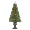 Holiday Living 4-ft Pre-Lit Arctic Pine Artificial Christmas Tree with White Incandescent Lights