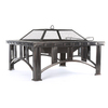 Garden Treasures 30-in W Rubbed Bronze Steel Wood-Burning Fire Pit