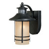 Portfolio Lloyd 11.5-in H Oil-Rubbed Bronze Motion Activated Outdoor Wall Light