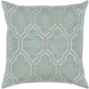 Surya 18-in W x 18-in L Moss/Light Gray Square Indoor Decorative Complete Pillow