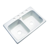 Dekor Master Double-Basin Drop-in Acrylic Kitchen Sink