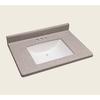 Style Selections Vanity Natural Cultured Marble Integral Single Sink Bathroom Vanity Top (Actual: 31-in x 22-in)