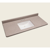 Style Selections Natural Cultured Marble Integral Single Sink Bathroom Vanity Top (Actual: 49-in x 22-in)