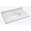 Style Selections Vanity White Cultured Marble Integral Single Sink Bathroom Vanity Top (Actual: 37-in x 22-in)