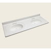 Style Selections Vanity White Cultured Marble Integral Double Sink Bathroom Vanity Top (Actual: 61-in x 22-in)