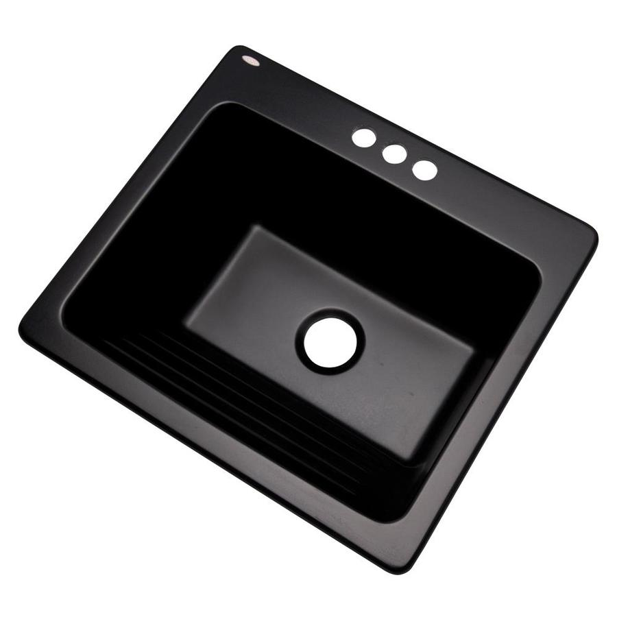 Shop Dekor Black Composite Laundry Sink at Lowes.com