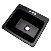 Dekor 22-in x 25-in Black Self-Rimming Composite Laundry Utility Sink