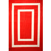 Garden Treasures Rectangular Red Geometric Indoor/Outdoor Area Rug (Common: 5-ft x 8-ft; Actual: 5-ft 3-in x 7-ft 7-in)