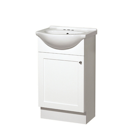 Style Selections Euro Style 20-in x 17-in White Single Sink Bathroom Vanity with Vitreous China Top