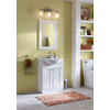 Style Selections Euro Vanity White Belly Sink Single Sink Bathroom Vanity with Vitreous China Top (Common: 24-in x 17-in; Actual: 24-in x 17-in)
