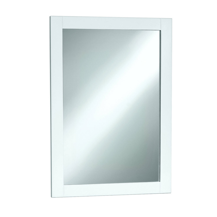 Shop style selections euro style 30 in h x 20 in w white for White mirror