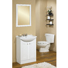 Style Selections Euro Style 20-in W x 30-in H White Rectangular Bathroom Mirror