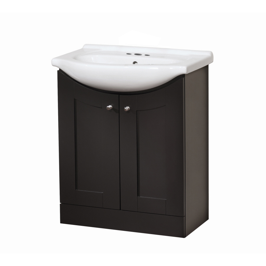 Selections Euro Vanity Espresso Belly Bowl Single Sink Bathroom Vanity ...