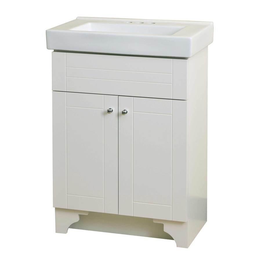 Shop Style Selections White Integral Single Sink Bathroom Vanity with
