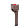 Postal Pro 7-3/4-in x 52-in Plastic Mocha In-Ground Mount Mailbox with Post
