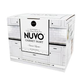 Nuvo 62 fl oz Interior Satin Kitchen and Bath White Paint and Primer in One