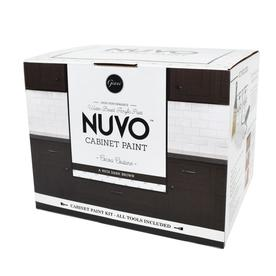 Nuvo 62 fl oz Interior Satin Kitchen and Bath Deep Brown Paint and Primer in One