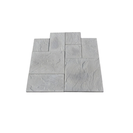 Nantucket Pavers 10-ft x 10-ft Gray Random Rivenstone Paver Patio Block Project Kit