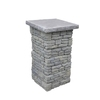 Nantucket Pavers Meadow Wall Pier with Flat Cap Gray Variegated Pillar Patio Block Project Kit