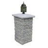 Nantucket Pavers Meadow Wall Pier with Light Cap Gray Variegated Pillar Patio Block Project Kit