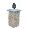 Nantucket Pavers Meadow Wall Pier with Light Cap Tan Variegated Pillar Patio Block Project Kit