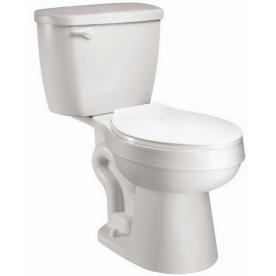 AquaSource White 1.28 GPF High Efficiency WaterSense Elongated 2-Piece Toilet