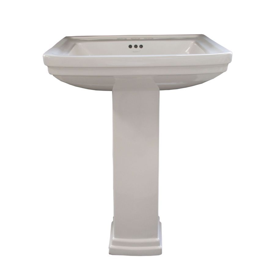 ... 33.1-in H White Vitreous China Complete Pedestal Sink at Lowes.com