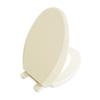 AquaSource Biscuit Plastic Elongated Slow Close Toilet Seat