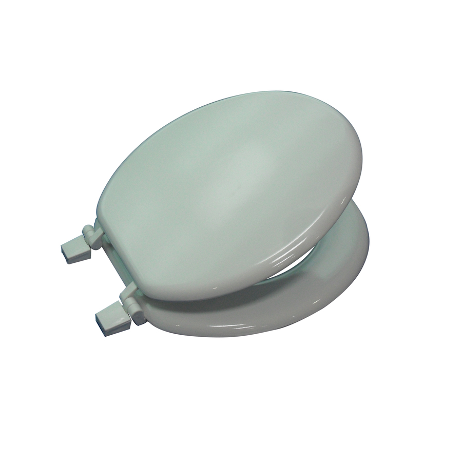 Shop Project Source White Wood Round Toilet Seat At