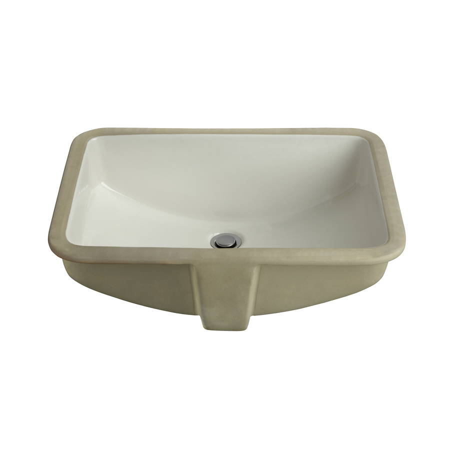 White Undermount Sink : ... in aquasource white undermount rectangular bathroom sink with overflow