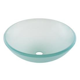 AquaSource Green Glass Vessel Bathroom Sink