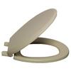 AquaSource Bone Plastic Round Slow Close Toilet Seat