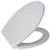 Jacuzzi White Plastic Elongated Slow Close Toilet Seat