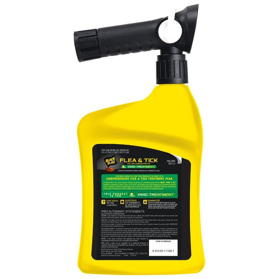 Black Flag Flea And Tick Yard Treatment 32 Fl Oz Concentrate Insect Killer In The Pesticides Department At Lowes Com