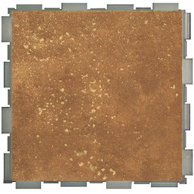 SnapStone 12-Pack Interlocking Rosso Glazed Porcelain Floor Tile (Common: 6-in x 6-in; Actual: 6-in x 6-in)