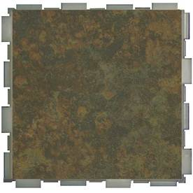 SnapStone 12-Pack Interlocking Moss Glazed Porcelain Floor Tile (Common: 6-in x 6-in; Actual: 6-in x 6-in)
