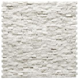 Solistone 10-Pack 12-in x 12-in Modern White Natural Stone Wall Tile