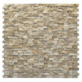 Solistone Modern 10-Pack Dada Subway Mosaic Marble Wall Tile (Common: 12-in x 12-in; Actual: 12-in x 12-in)