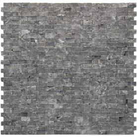 Solistone 10-Pack 12-in x 12-in Modern Black Natural Stone Wall Tile