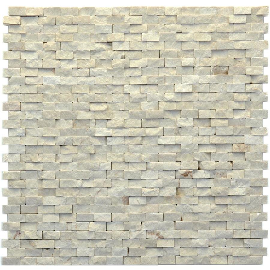 Stone Tiles For Backyard : Pack Modern Fauve Natural Stone Mosaic Subway IndoorOutdoor Wall Tile