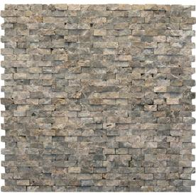 Solistone 10-Pack 12-in x 12-in Modern Brown Natural Stone Wall Tile