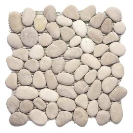Solistone 10-Pack River Rock Pebbles Brookstone Natural Stone Mosaic Random Indoor/Outdoor Floor Tile (Common: 12-in x 12-in; Actual: 12-in x 12-in)